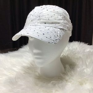 New style of ball cap embellished in sequins.